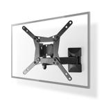 Suport TV de perete reglabil 10-32 max. 30kg 3 puncte pivot Nedis VE-TVWM31BK