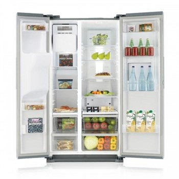 Side by side Samsung RS7577THCSP 530L A+ Full NoFrost Dispenser apa - gheata Gri rs7577thcsp