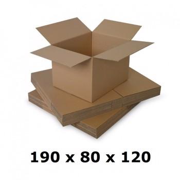 Cutie carton 190x80x120, natur, 3 straturi CO3, 435 g/mp