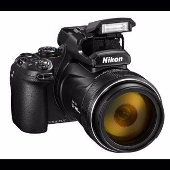 Aparat Foto Digital NIKON COOLPIX P1000, Filmare 4K UHD, 16MP, Zoom Optic 125x, GPS, Wi-Fi (Negru)