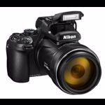 Aparat Foto Digital NIKON COOLPIX P1000, Filmare 4K UHD, 16MP, Zoom Optic 125x, GPS, Wi-Fi (Negru)