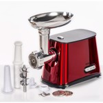Masina de tocat carne Daewoo 1300 W 1 kgmin Accesoriu carnati 3 Discuri de taiere Rosie dmg099r