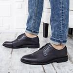 Pantofi barbati Piele Macalo negri