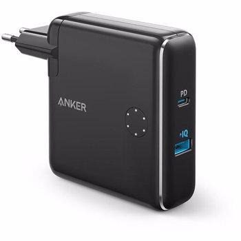 Baterie externa Anker PowerCore Fusion 5000 - Incarcator de retea si baterie externa 2-in-1, 42W, USB, USB-C, Power Delivery, 5000mAh, Negru