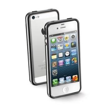 Carcasa dura iPhone 5, margine cauciucata antisoc, Black