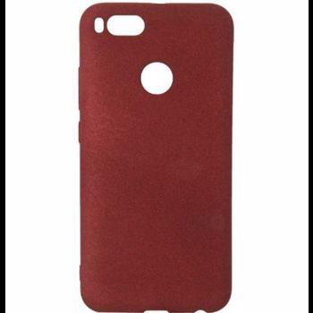 Husa Flex Slim Sand TPU pentru Xiaomi Mi A1 sau 5X Senno Dark Red snnm-bc-fss-tpu-xima1-drd