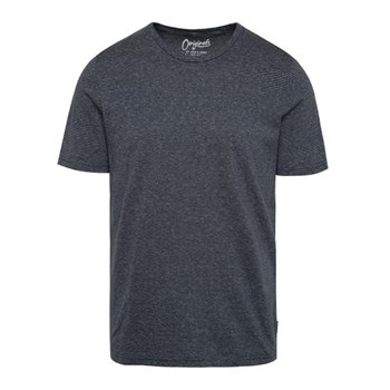 Tricou albastru inchis Jack & Jones True cu model discret