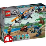 LEGO 75942 Jurassic World 4+ Velociraptor: Biplane Rescue Mission Dino Toys for Preschool Kids