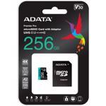 Card de memorie ADATA PremierPRO, MicroSDXC, 256GB, UHS-I U3 + Adaptor