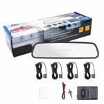 Senzori parcare PNI Escort P03 B cu afisaj in oglinda, cu 4 receptori ultrasonici , 25 mm, 12V (Negru)