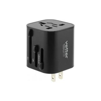 Adaptor priza Vetter Universal World Travel Adapter Lite ,Negru