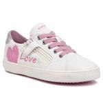 Sneakers GEOX - J Gisli G. B J024NB 01002 C0406 S White/Pink