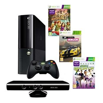 Consola Microsoft Xbox 360, 4 GB + Kinect + Joc Adventures + Joc Sports + Joc Forza Horizon