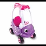 Masinuta din plastic cu maner pentru control parental, mov/roz