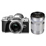 Aparat foto Mirrorless Olympus E-M10 Mark III Pancake Double Zoom 16.1MP Argintiu + Obiectiv EZ-M 40-150mm F4.0-5.6 R Argintiu v207074se000