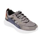 Pantofi sport SKECHERS gri, MATERA 2.0 XIMINO, din material textil si piele naturala