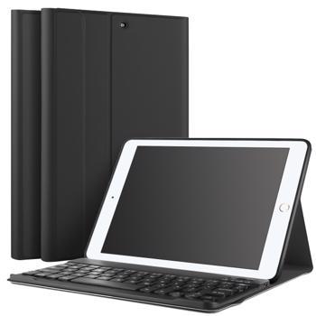 Husa carcasa stand cu tastatura Bluetooth pentru iPad 9.7 2017 / 2018 / Air / Air 2 negru
