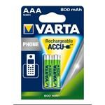 Acumulatori Varta pentru telefoane cordless, AAA, 800 mAh, 2 buc