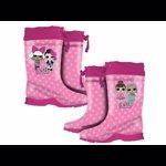 Incaltaminte / Cizme de ploaie pentru fete cu imprimeu LOL Surprise, Roz
