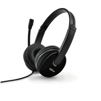 Casti over the ear Qilive Q8161 cu microfon si 2 mufe jack 3.5mm