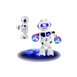 Robot Pioneer 2 electric, multifunctional, cu rotire 360 ° lumini si muzica