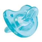 Suzeta Chicco silicon Physio monobloc, forma ortodontica, 0-6 luni, bleu