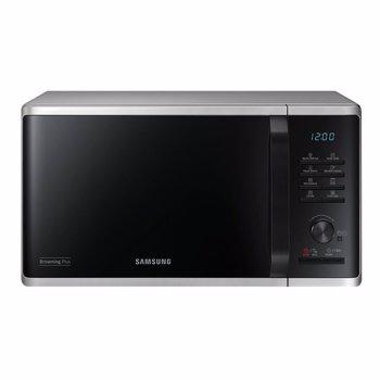 Cuptor cu microunde Samsung MG23K3515AS, 800W, 23 L, Grill, EcoMode, 6 nivele de putere, Control digital, Argintiu