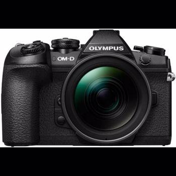 Aparat Foto Mirrorless Olympus E-M1 MARK II Body, 20.4 MP, Filmare 4K, WI-FI + Obiectiv EZ-M1240PRO (Negru)