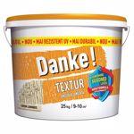Tencuiala decorativa Danke Textur, aspect structurat, crem luminos, interior/exterior, 25 kg