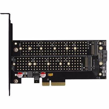 Adaptor AXAGON PCI-E 3.0 4x DUAL M.2 SSD pcem2-d