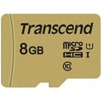 Card Transcend TS8GUSD500S microSDHC USD500S 8GB + Adaptor