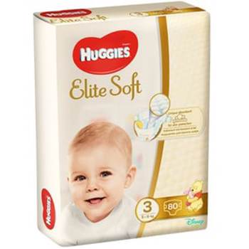 Scutece / Scutece Huggies Elite Soft, Nr 3, 5 - 9 Kg, 80 buc