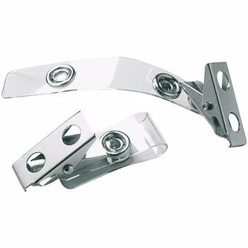 Clips metalic pentru ecuson, 25 bucati/cutie
