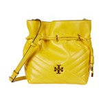Genti Femei Tory Burch Kira Chevron Mini Bucket Bag Limone