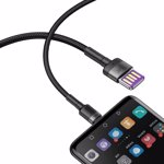 Cablu Type-C Baseus Cafule HW Quick Charging Gray & Black