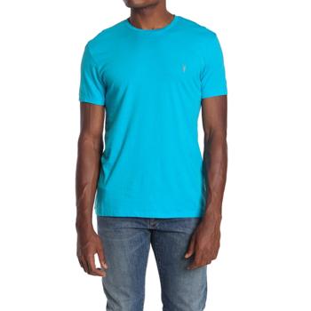 Imbracaminte Barbati AllSaints Tonic Crew Neck Cotton T-Shirt TROPICANA BLUE