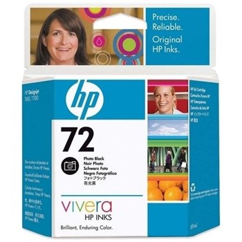 HP C9397A INK 72 CARTRIDGE Photo Black 69 ml for: DJ T1100,DJ T1100PS, DJ T610 C9397A