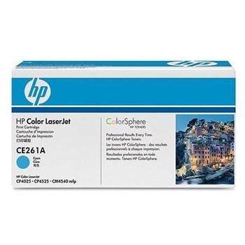 Toner HP CE261A Color LaserJet Cyan 11000 pag hpce261a