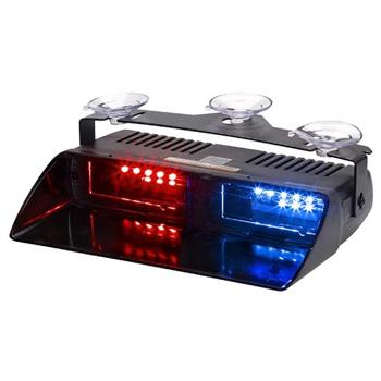 Lampa LED stroboscopica pentru parbriz rosu-albastru 080317-2