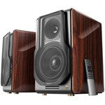Edifier 2.0, RMS: 256W (2 x 8W, 1 x 120W, 1 x 120W), bluetooth telecomanda wireless, volum, bass, treble, optical, coaxial, brown