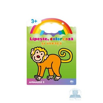3+ Animalele 2 - Lipeste, coloreaza si invata 503059