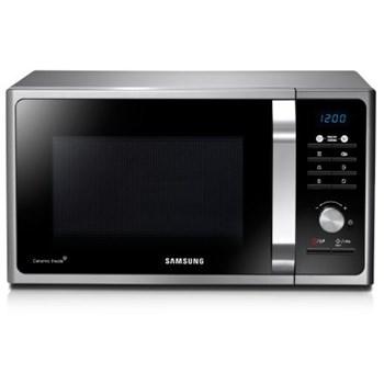 Cuptor cu microunde Samsung MS23F301TAS, 23 l, 800 W, 6 nivele de putere, control electronic, argintiu