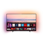Televizor LED Philips 127 cm, 50PUS6704/12, Ultra HD 4K, Smart TV, Ambilight, WiFi, CI+, Negru