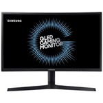 "Monitor curbat gaming QLED Samsung C24FG73, 23.5"", Full HD, VA, 1ms, 144Hz, Display Port, HDMI, FreeSync, Flicker Free, Negru"