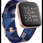 Ceas smartwatch Fitbit Versa 2 Special Edition, NFC, Navy/Pink Woven