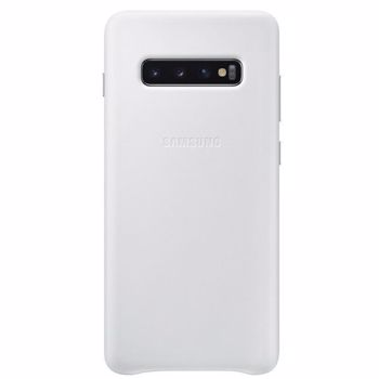 Carcasa Original Samsung Galaxy S10 Plus G975 Samsung Leather Cover White