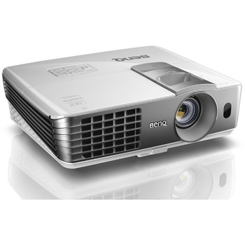 BenQ W1070+ 1080P Full HD Short-Throw Video Projector with 3D Support, Side Projection Support and Flexible Zoom and Lens Shift - White/Grey