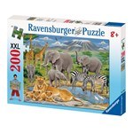 Puzzle Animale In Africa 200 piese