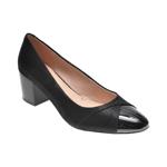 Pantofi KARISMA negri, 8260264, din piele intoarsa