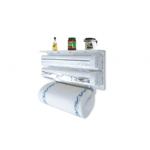 Dispenser de bucatarie triplu pentru hartie, folie aluminiu si folie stretch
